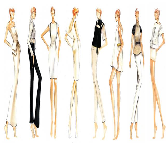 Các dáng cơ bản trong thiết kế thời trang