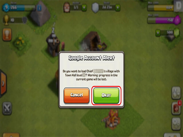Phần màn hình hiển thị để đăng nhập