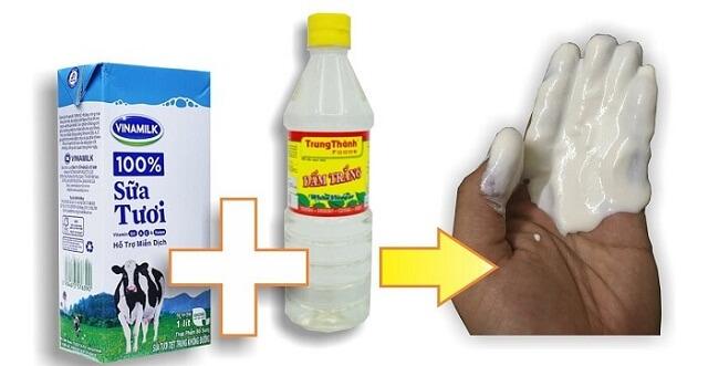 Tẩy vết thâm kim trên quần áo màu bằng giấm ăn và sữa tươi