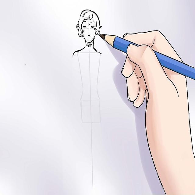 Vẽ phác phần đầu và phần cổ