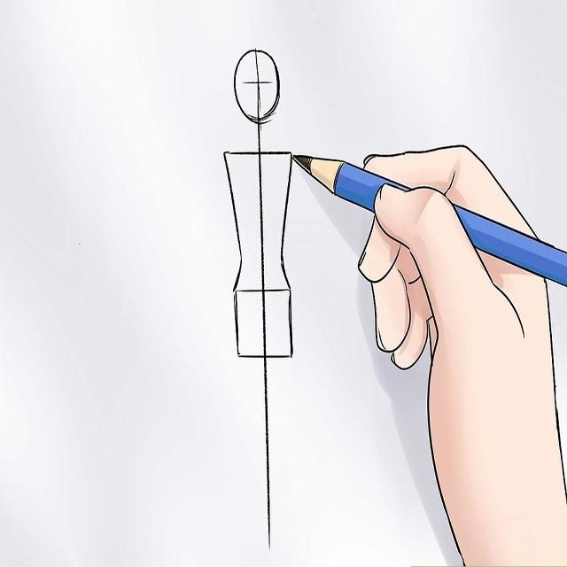 Vẽ phác thân mình và vai